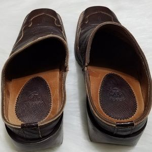 Ariat Shoes - Ariat Tabitha Mules Brown Leather Casual Slide Boo